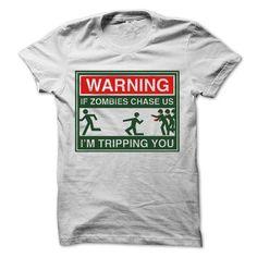 Cool Warning Zombies Shirts & Tees