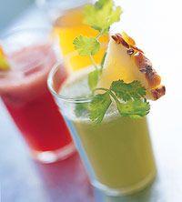 Herbed Pineapple Refresher http://www.bhg.com/recipe/drinks/herbed-pineapple-refresher/