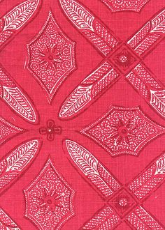 Collection: Batik Pattern: Graham Style No: 2612 Color: Red Content: 100% linen Width: 54 in Repeat: 28 in