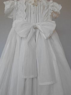 Handmade Antique French Christening Gown by Vintagefrenchlinens