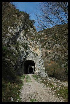 Railway Spoleto  Norcia, Province of Perugia , Umbria region. Italy