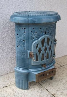 ANTIQUE FRENCH ART DECO WOOD & COAL BURNING STOVE BY DEVILLE - CIRCA 1930   eBay