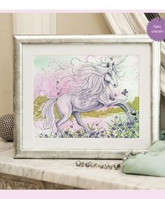 "Free cross-stitch design ""Fairy unicorn"".Use your stitching skills to create…"
