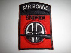 Vietnam War Patch US Army SNIPER Team 82nd Airborne Division