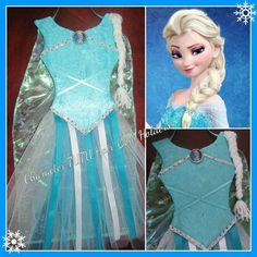 Frozen Elsa Inspired tutu hair bow holder #Handmade