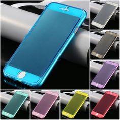 Kisscase için ultra İnce İnce şeffaf flip case apple iphone 6 6 s artı iphone 6 yumuşak tpu silikon kapak için şeffaf telefon Coque