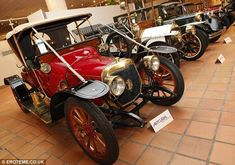 Long-held passion: Prince Rainier of Monaco, who married Grace Kelly, spent 30 years assembling a collection of more than 100 cars which are on display at the Museum at Terrace of Fontvielle Museum in Monaco