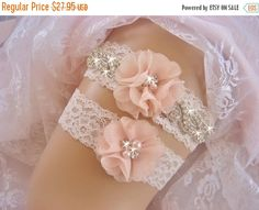 SALE!! Wedding Garter /  Rhinestone Garter / Crystal by nanarosedesigns