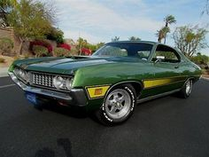 Ford : Torino @NO RESERVE! 1971 FORD TORINO 500 FASTBACK RESTORED TO FACTORY SPECS - FACTORY AC NO RESERVE! Ford Torino, Ford Lincoln Mercury, Plastic Model Cars, Ford Fairlane, Ford Trucks, Hot Cars, Ford Mustang, Cars And Motorcycles, Muscle Cars