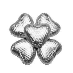 100 Chocolate Hearts, Silver, £20.95