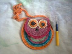 "Small bags ""owl"" created for the little girl Masha."