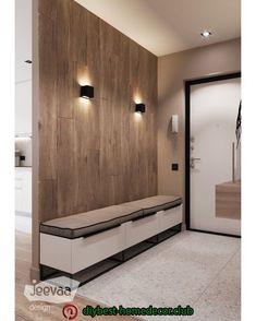 Diy home decor Home Entrance Decor, House Entrance, Entryway Decor, Diy Home Decor, Flur Design, Hall Design, Appartement Design, Hallway Designs, Small Hallways