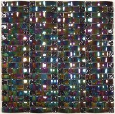 Universal Glass Designs  Wave-3D Glass Series, Weave, Osiris, Glossy & Iridescent, Black, Glass