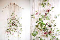 Blumengirlande Wandschmuck Hochzeit