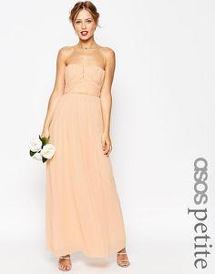 ASOS Petite | ASOS PETITE WEDDING Ruched Bodice Bandeau Maxi Dress at ASOS