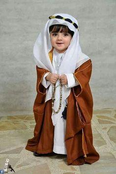 Thobe for kids MasyaAllah so cute Cute Baby Boy, Cute Little Baby, Cute Boys, Little Babies, Cute Babies, Baby Kids, Beautiful Children, Beautiful Babies, Arab Babies