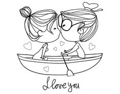 Love Drawings, Doodle Drawings, Cartoon Drawings, Easy Drawings, Doodle Art, Love Doodles, Valentines Illustration, Cute Illustration, Desenhos Love