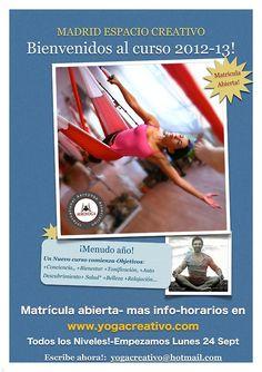 Clases de yoag en MADRID, CALSES DE YOGA EN MADRID, entra en  www.yogacreativo.com  y www.aeroyoga.tv
