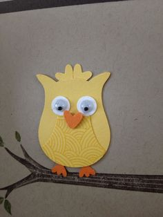 birthday card using owl, heart and circle punches