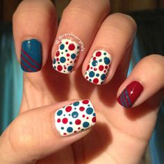 carolinacrystals's festive tips. Show us your 4th of July-inspired nails! Tag your pic #SephoraNailspotting to be featured on our social sites.