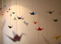 Le mille gru di Sadako laboratorio di origami nella mostra Senzatomica