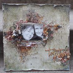 Vintage together - Szántó-Brezanóczy Szandra Scrapbook Layouts, Scrapbook Pages, Scrapbooking, Layout Inspiration, Mixed Media, Floral Wreath, Selfie, Painting, Vintage