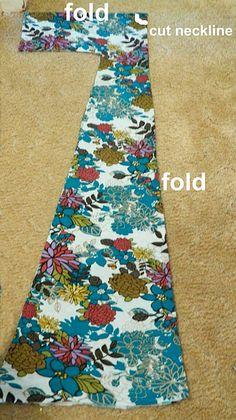 DIY maxi dress met een uitgewassen zacht laken?