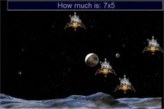 Multiplication Apollo Moon Landers Game - Online Math Times Tables