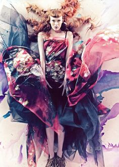 Craig McDean /Dolce and Gabbana. I see splashes of beautiful coloured paint when I look at this.