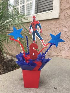Hey, I found this really awesome Etsy listing at https://www.etsy.com/listing/478863553/spiderman-centerpiece-centerpiece-party