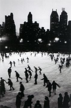 Ice Skating in Central Park at the Wollman Rink. Photo by Bruno Barbey.