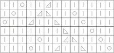 Схема для вязания. Ажурный узор