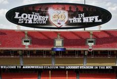 the loudest stadium in the nfl  arrowhead stadium  home of the kansas city CHIEFS !