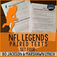 These high-interested paired texts allow your students to compare and contrast two of the best players in NFL history. Quizzes and a writing prompt are included.