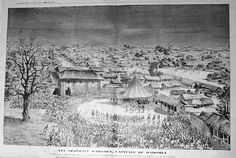 Overview of the capital of Dahomey, Abomey