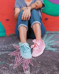 feb64e164f tô amando tanto usar tênis assim um de cada cor  modicesinspira   sneakerhead  pumasuede