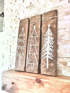 Set of 3 Rustic Wooden Christmas Trees, Xmas Wood Tree Decoration for Holiday Se. Set of 3 Rustic Wooden Christmas Trees, Xmas Wood Tree Decoration for Holiday Season, Christmas Holiday Gift and Present, Rustic Christmas Wooden Christmas Decorations, Farmhouse Christmas Decor, Rustic Farmhouse Decor, Tree Decorations, Etsy Christmas, Rustic Christmas, Christmas Holidays, Christmas Cookies, Rustic White