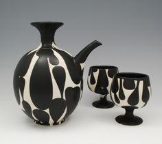 scott_sam_Black and White Decanter and goblets
