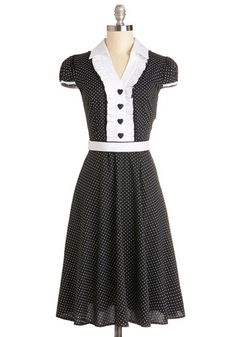 About the Artist Dress in Black and White, #ModCloth 52.99