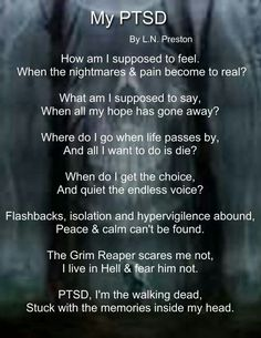 Ptsd it just plays over and over again......