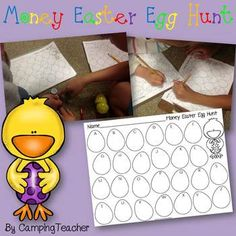Thank you for your interest in my product!  All New Products are Half Price for the First 48 Hours! Be Sure to Follow Me to get Notifications when New Products are Posted!  Here is an Easter freebie for your students to enjoy!    Fill 26 plastic eggs with assorted amounts of fake coins.