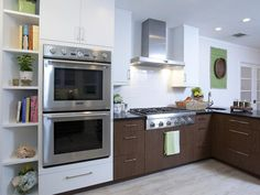 - Small Kitchen Design Ideas and Inspiration on HGTV-Odd shelves for cookbooks