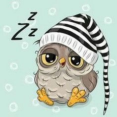 Illustration about Sleeping cute owl in a hood on a blue background. Illustration of childbirth, birthday, decoration - 78202023 Cartoon Mignon, Owl Vector, Baby Animals, Cute Animals, Owl Pictures, Sleep Pictures, Owl Always Love You, Image Gifts, Wise Owl
