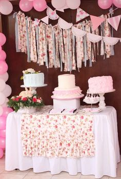 Party table cloth shabby chic new ideas Cumpleaños Shabby Chic, Shabby Chic Pillows, Shabby Chic Baby Shower, Shabby Chic Interiors, Shabby Chic Birthday Party Ideas, Shabby Chic Bathroom Accessories, Shabby Chic Painting, Festa Party, Party Party