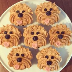 Buttercream puppy cupcakes