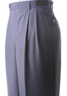 bafcf73c3cde Pleated Dress Slacks | Wide Leg baggy Pants | Wool Trousers for Men