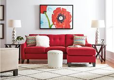 picture of Cindy Crawford Home Madison Place Cardinal 2 Pc Sectional from Sectionals Furniture