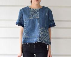 Sea New York:denim patchwork top- CUL DE PARIS online store