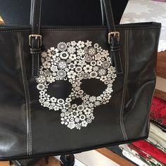 Sugar Skull Tote Handbag Black tote with gorgeous sugar skull - brand new - never used! Skull on both sides of the bag! Ewa Bags Totes