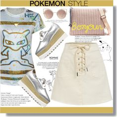 POKEMON STYLE by jenny007-281 on Polyvore featuring MANGO and H&M